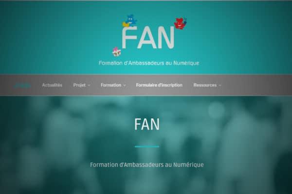 Front page of FAN website
